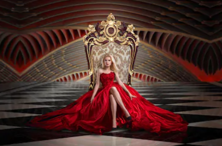 wo,am on throne
